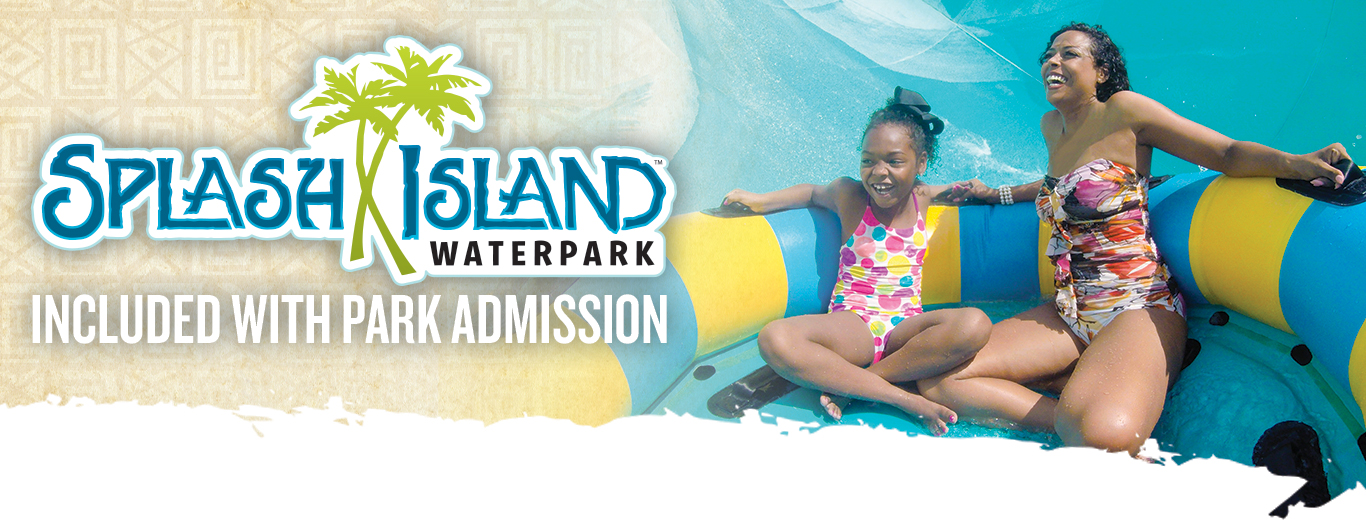 Splash Island is Included with Park Admissions